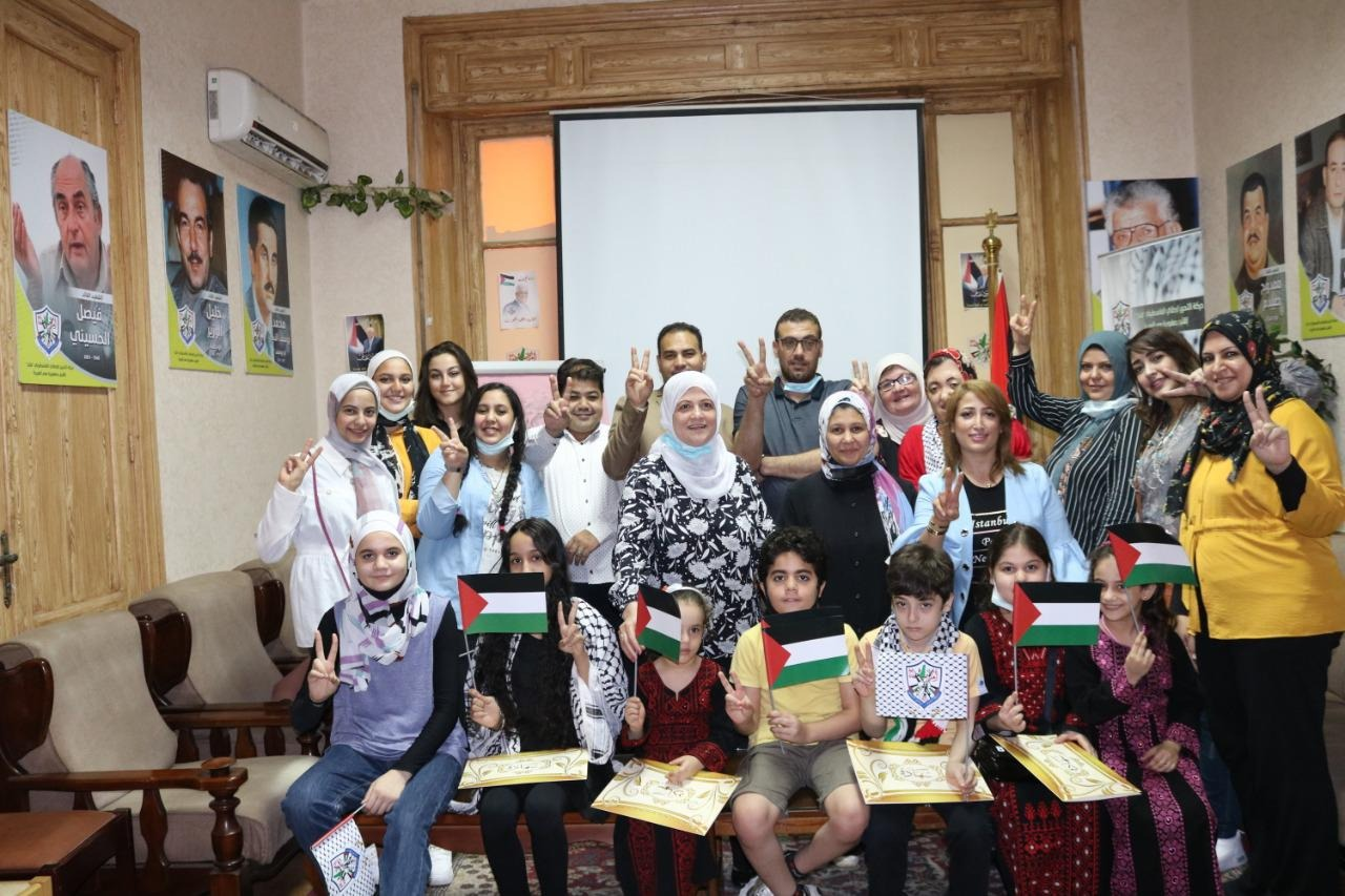 Fatah in Egypt honors young boys and girls of the movement